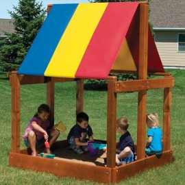 5' x 5' Deluxe Sandbox with Canopy